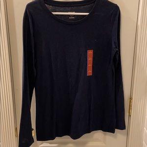 NWT Mossimo navy blue long sleeve shirt